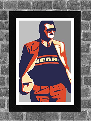 Chicago Bears Mike Ditka Portrait Sports Print Art 11x17 -