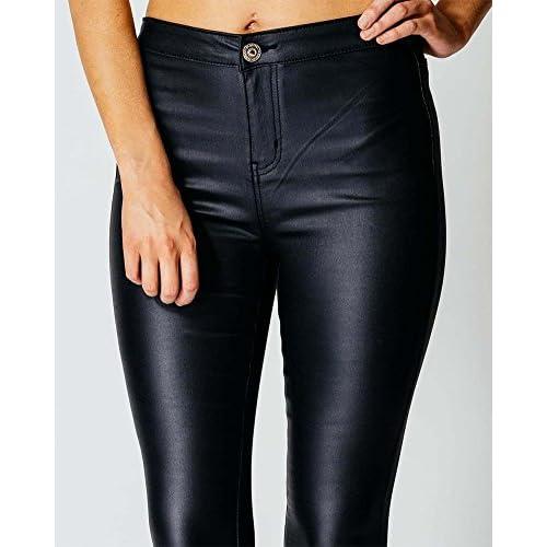 db4b4dd121b8 70%OFF Mujeres Pu Leggins Cuero Alta Cintura Skinny Elásticos ...