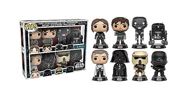 Star Wars Funko Pop Rogue One Vinilo Bobblehead Figuras 8 Pack Edición Limitada: Amazon.es: Juguetes y juegos