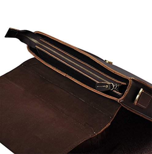 Genda 2Archer Bolso de Hombro Loco de la Cartera del Caballo de los Hombres (33.5cm * 7cm * 24cm)