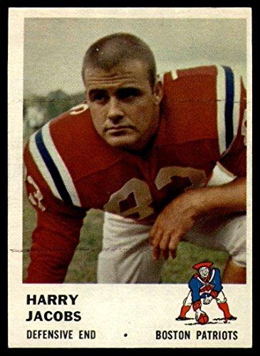 Football NFL 1961 Fleer #186 Harry Jacobs EX Champion Patriots