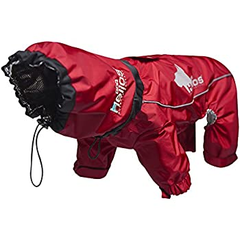 DogHelios Weather-King Windproof Waterproof and Insulated Adjustable Full Bodied Pet Dog Jacket Coat w/Heat Retention Technology, X-Large, Red