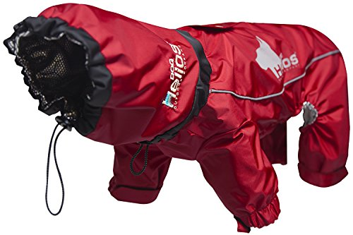 - DOGHELIOS 'Weather-King' Windproof Waterproof and Insulated Adjustable Full Bodied Pet Dog Jacket Coat w/ Heat Retention Technology, Large, Red