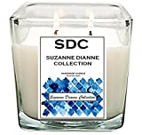 SDHOME COLLECTION 100% SOY SCENTED Candles handmade in USA - Long Lasting Fragrance (BALI WATERFALL, 15 oz)