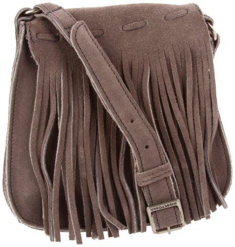 Minnetonka 5301T Shoulder Bag,Grey,One Size, Bags Central