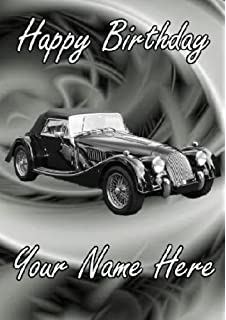 A5 personalised mg midget car birthday card refpid999 amazon a5 personalised morgan 8 car happy birthday card refpidmor1 bookmarktalkfo Images