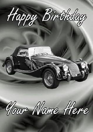 Personalised Morgan Car Happy Birthday Card