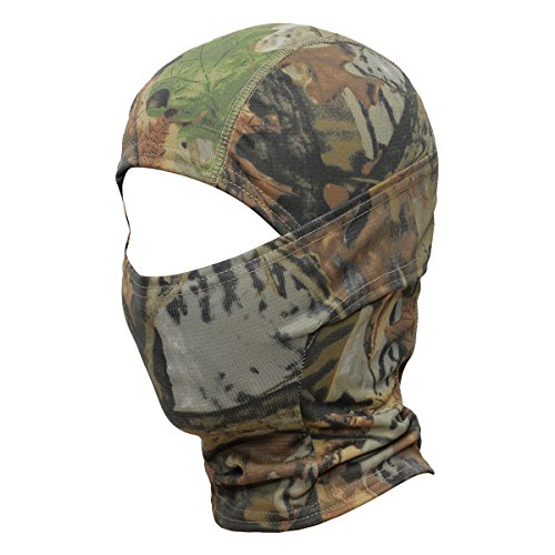 WTACTFUL Camouflage Balaclava Hood Ninja Outdoor Cycling Motorcycle Motorbike Hunting Military Tactical Airsoft Paintball Helmet Liner Gear Wind Dust Sun UV Protection Breathable Full Face Mask SC-02