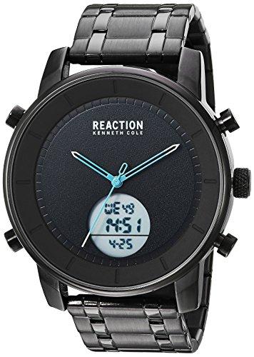 Kenneth Cole REACTION Men's RK50083009 Analog-Digital Display Analog Quartz Black Watch