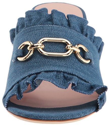 Azzurro York Stati Sandalo Nuove Denim Tacco Kate Demmi Uniti Spade Donne M fWF4xn8
