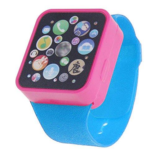 Price comparison product image Fiaya Child Kids Educational Learning Touching Screen Smart Wrist Watch Toy (blue)