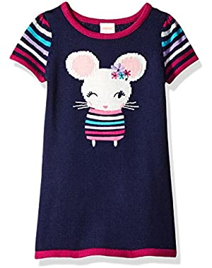 Baby Girls' Dress with Mouse