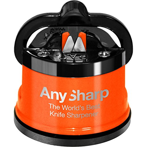 AnySharp Knife Sharpener Metal Orange
