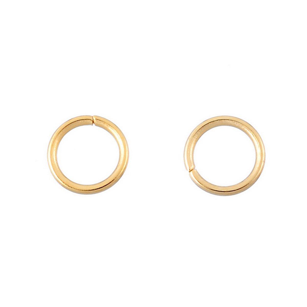 HooAMI 30 pcs Anneaux de Jonction en Acier inoxydable Accessoires de bijoux pour DIY Bijoux TY HooAMI103