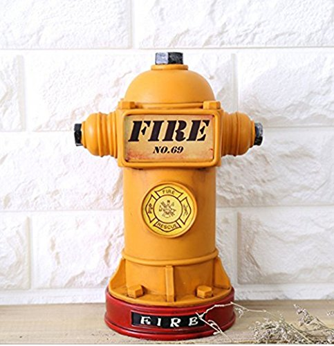 Skyseen Retro Resin Piggy Bank Fire Hydrant Craft Ornaments for Home - Hydrant Fire Piggy Bank