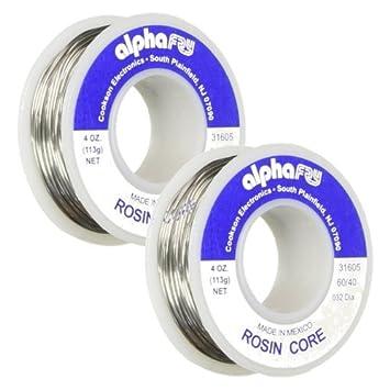 Alpha Metals #am31605 4oz.032elec Lead Solder ... (2 Pack) - - Amazon.com