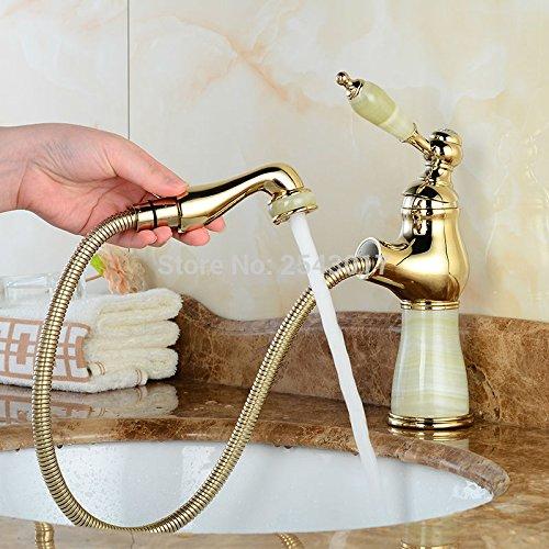 Maifeini Becken Flexible Herausziehen Wasserhahn Golden Polnischen