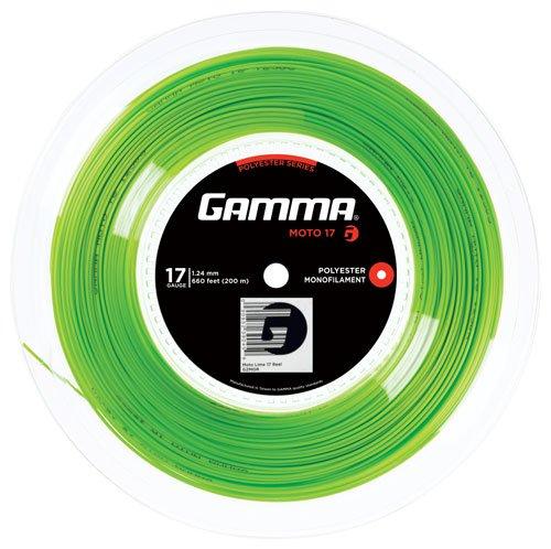 Gamma Tennissaite Moto Lime 17 (1.24 mm) 200 m Rolle,GZMOR GZMOR17 - Lime