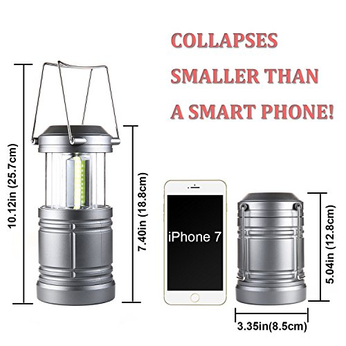 2Pcs Tactical Lantern Collapsible Military Tough Tac Light Lantern with COB LEDs & Magnetic Base Ultra Bright Camping Lantern