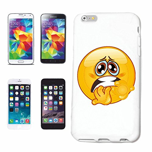 "cas de téléphone Samsung Galaxy S3 Mini ""Anxieux SMILEY ""sourire EMOTICON APP de SMILEYS SMILIES ANDROID IPHONE EMOTICONS IOS"" Hard Case Cover Téléphone Covers Smart Cover pour Samsung Galaxy S3 Mini"