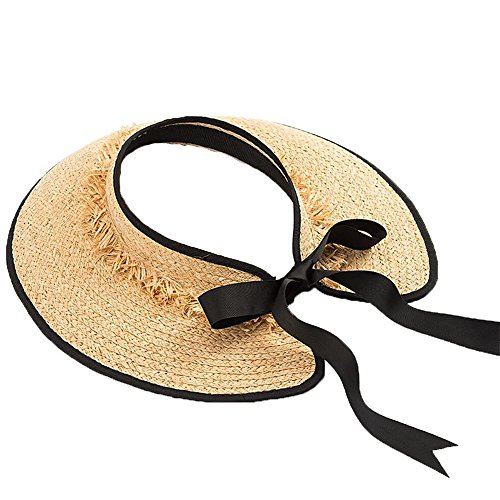 Sol Sombrero un al Zhou Paja en Yunshan Sombrero Playa de Recorrido de a protección Mano del Libre Aire se El la Doblar Puede del de de la Tejer Paja zFqwOz