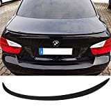 Trunk Spoiler Fits 2005-2011 BMW 3-Series E90 | M3 Style CF Carbon Fiber Rear Tail Lip Deck Boot Wing Other Color Available By IKON MOTORSPORTS | 2006 2007 2008 2009 2010