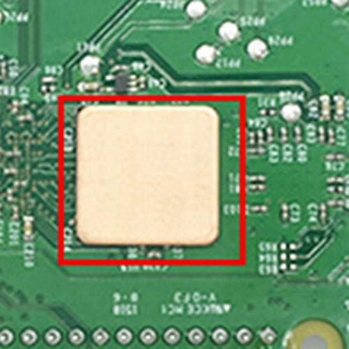 HoganeyVan Raspberry Pi 3 2B 3B B con disipador de Calor de Aluminio de Cobre Puro 3 Piezas de un Conjunto de Bolsas Ziplock PP