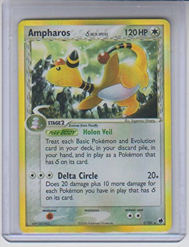 Ampharos Delta Species Holo Rare Pokemon #1 Photo