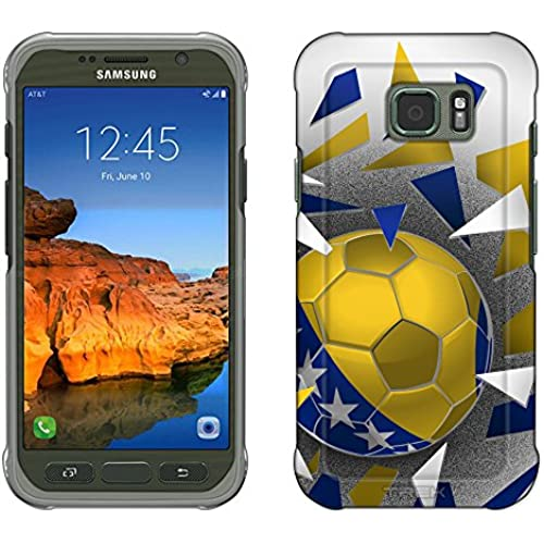 Samsung Galaxy S7 Active Case, Snap On Cover by Trek Soccer Ball Bosnia And Herzegovina Slim Case Sales