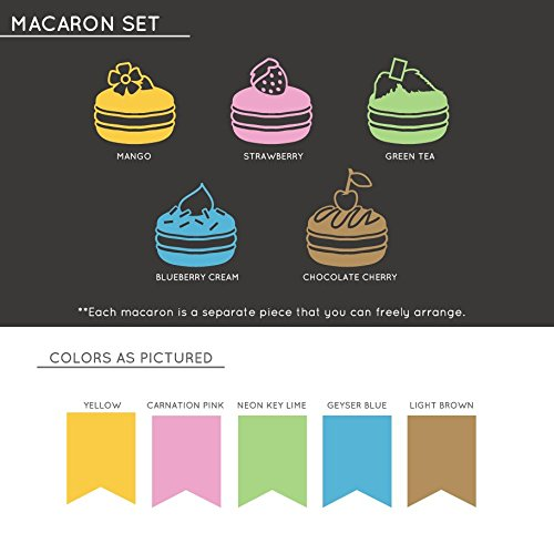 Macarons with Toppings - Vinyl Wall Art Decal for Homes, Offices, Kids Rooms, Nurseries, Schools, High Schools, Colleges, Universities