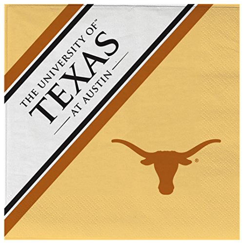 NCAA Texas Longhorns Disposable Paper Napkins, Pack of 20]()