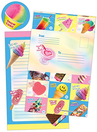 iscream 'Frozen Delights' Pack of 8 Fold-over Cards with Flip Sticker Seals