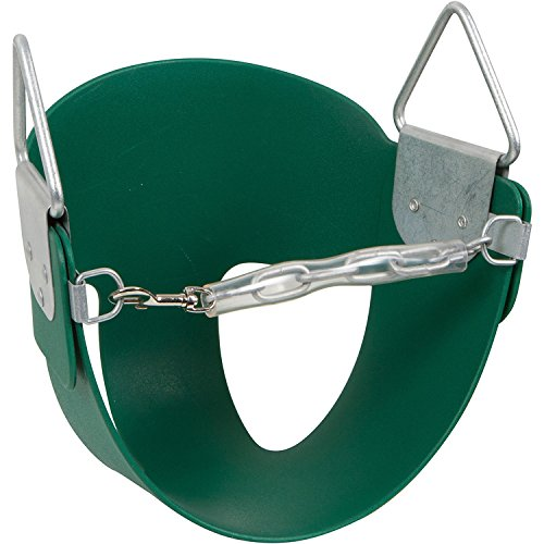 Swing Set Stuff Half Bucket Seat with SSS Logo Sticker, Green -