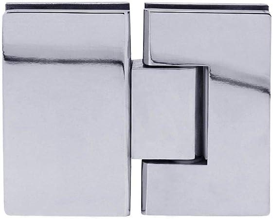 1 Bisagra De Cristal 180/° Acero Inoxidable Ducha Puerta De Vidrio Cuarto De Ba/ño Muebles Sellos Brillante Set