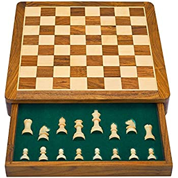 Great Birthday Gift Ideas 12 Inch Classic Wooden Chess Set With Magnetic Chess  Board Handcrafted Felted
