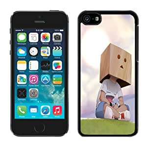Nice Designed Phone Case With Boxhead Cover Case For iPhone 5c Black Phone Case CR-086