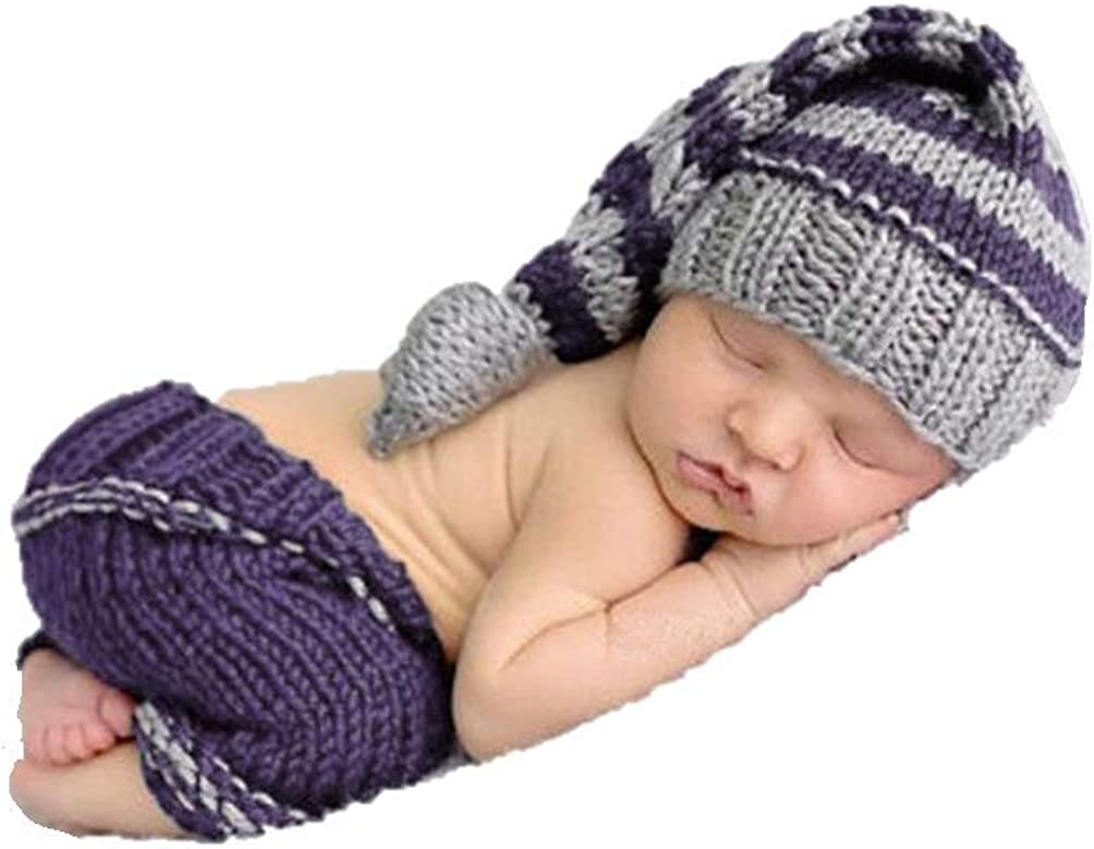 Newborn Baby Girls Boys Photo Photography Prop Crochet Knit Costume Outfits