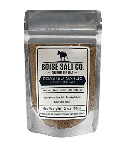 Naturals Roasted Garlic (Boise Salt Co. Roasted Garlic All-Natural Sea Salt (Medium Grain) - 2 Ounce Pouch)