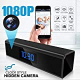 Hidden Camera WiFi Adapter 1080P Spy Camera Clock with Night Vision Spy Camera Mini with Motion Detection Camera Hidden Wireless with Playback - Real Time Home or Office Surveillance