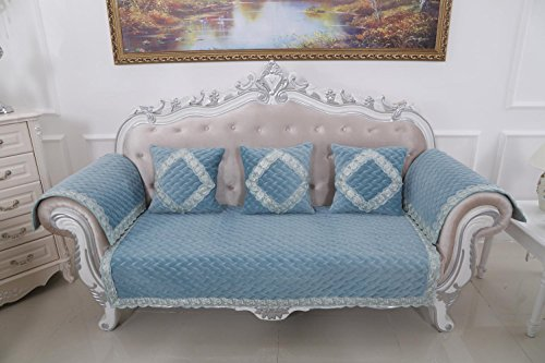 HUANZI 2 Seater Sofa Cover Loveseat Slipcover classical Couch Cover Settee Protector Solid color , 110160 (Settee Covers Loose)