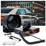 Xprite 200 Watt 8 Tones Emergency Warning Siren Extra Slim Speaker PA System Kit w/Handheld Microphone & Light Control Switches