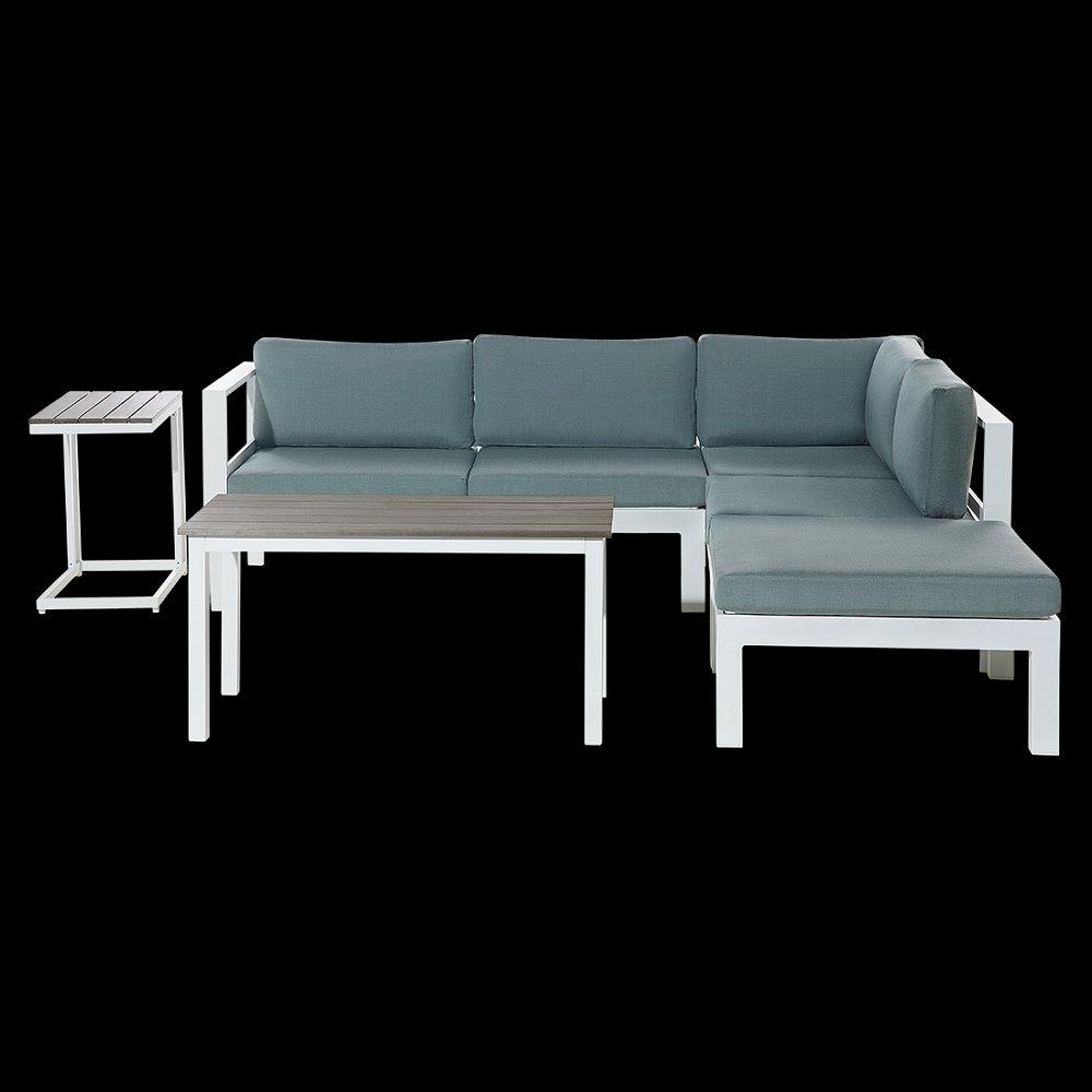 Gartenmöbel Weiss Terrassenmöbel Lounge Gartensofa Tisch