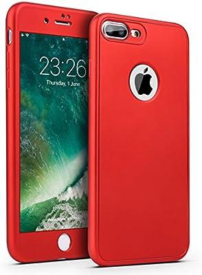 "Ukayfe - Carcasa para iPhone 7 Plus / 8 Plus - de Silicona - 360 grados de protección - Trasnparente - 5,5"" , compatible con Apple iPhone 7 Plus/8 ..."