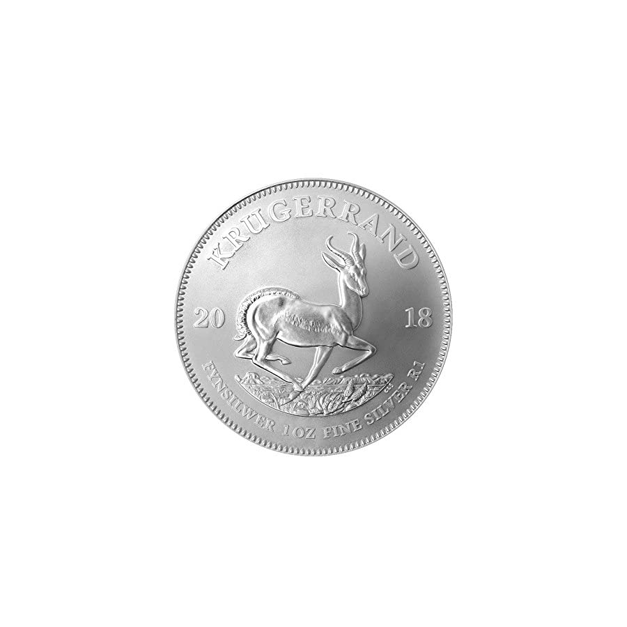 2018 ZA South Africa Silver 1oz Krugerrand Brilliant Uncirculated