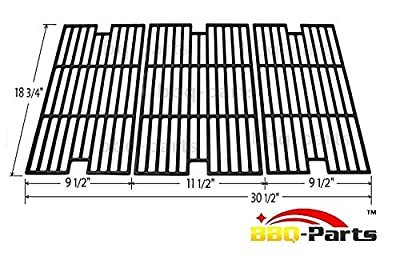 Hongso PCC013 Cast Iron Cooking Grid Set Replacement for BBQ Tek GSC3219TA, GSC3219TN, Master Forge B10LG25 Grill Models, 2BQ05037-2, Set of 3 by Hongso