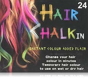 Hunnt? 24 Colours Temporary Color Dye Hair DIY Nontoxic Hair Color Chalk Pastel by bestfavor