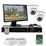 GW Security VD2CHH13 4 CH HD-SDI DVR 2 x HD-SDI 1/3-Inch 1.3 Megapixel CMOS Camera 720P Video Output, 3.6 mm Lens, 24-IR LED, 49-Feet IR Distance