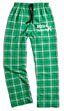 Fishers Sportswear Fisher Sportswear Irish Dance Classic Shoes Print Flannel Pants (Youth Medium, Kelly)