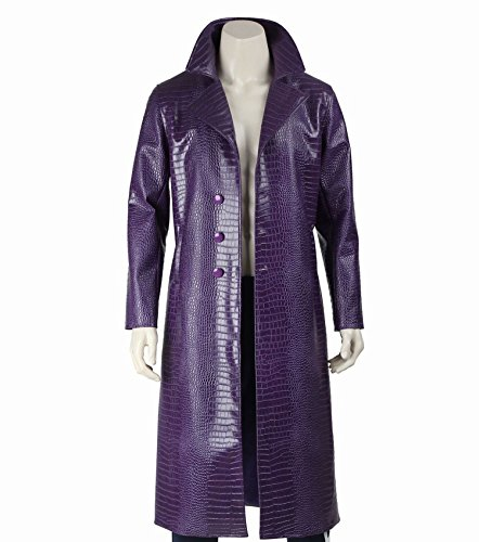 Urbanoutfitters Jared Leto Joker Costume Trench Coat Suicide Squad Crocodile Faux Leather Coat (XL) -