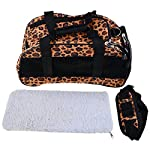 Pet Carrier, Aoleytech Airline Approved Pet Travel Portable Carrier Bag Soft-Sided Pet Travel Carrier Perfect for Small Dogs and Cats(Leopard Print)